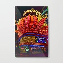 Flamingo Hotel Neon Lights Las Vegas United States of America Metal Print