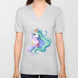 Beautiful unicorn drawing Unisex V-Neck