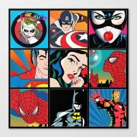 comics Canvas Prints featuring COMICS by mark ashkenazi