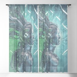 The Little Carbon Girl Sheer Curtain