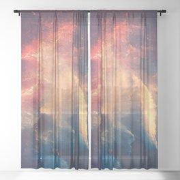 Graceful Universe Galaxy Space Sheer Curtain