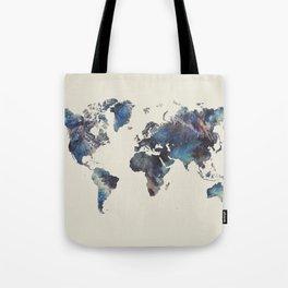 world map 124 blue  #worldmap #map Tote Bag