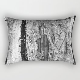 Carvings in Tree Trunk Gnarly Texture Pattern Rectangular Pillow