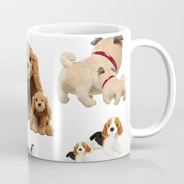 Puppy and Mommy Fluffy Dogs Coffee Mug