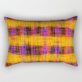 plaid pattern abstract texture in orange yellow pink purple Rectangular Pillow