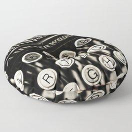 Underwood  typewriter Floor Pillow