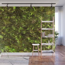 Abalone Shell | Paua Shell | Sea Shells | Patterns in Nature | Yellow Tint | Wall Mural