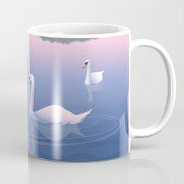Swimming Swans on the Lake Coffee Mug