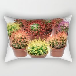 Bunch of multicolor cactuses Rectangular Pillow