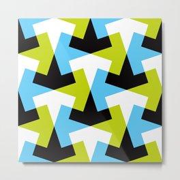 Geometric Pattern #61 (green blue black) Metal Print