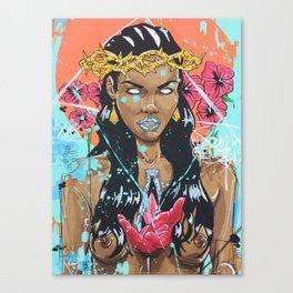 Love On Bloom Canvas Print