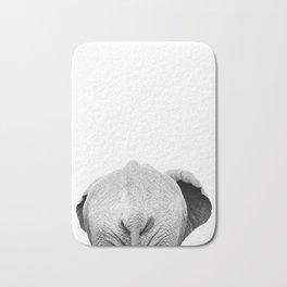 Elephant Back Photo | Black and White Bath Mat