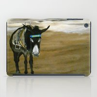 donkey iPad Cases featuring Seaside Donkey by James Peart