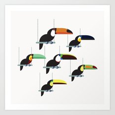 The toucans Art Print