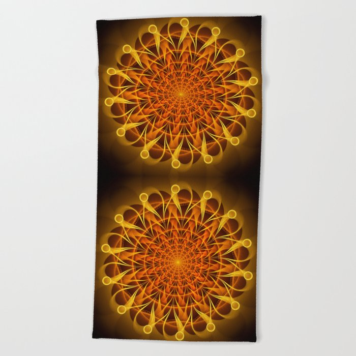 The mandala of energy Beach Towel