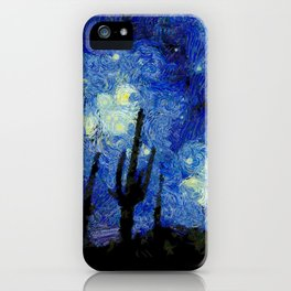Starry Night Over the desert iPhone Case