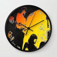 velvet underground Wall Clocks featuring Velvet Underground by Matt Pecson
