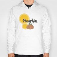 pumpkin Hoodies featuring pumpkin by gasponce