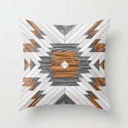 Urban Tribal Pattern No.8 - Aztec - Wood Throw Pillow