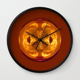Fire Crystal in the globe Wall Clock