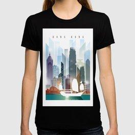 The city skyline of Hong Kong T-shirt