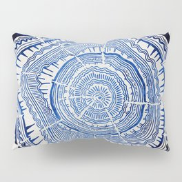 Growth Rings – 65 Years – Navy Pillow Sham