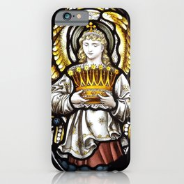 Angel & Holy crown iPhone Case