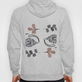 cats and flowers pattern Hoody