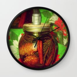 Nature In A Bottle Wall Clock