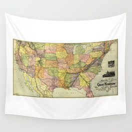 Great Kennesaw Route Map (1890) Wall Tapestry