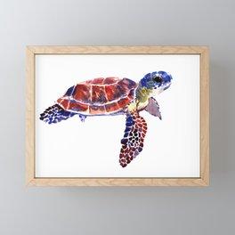 Sea Turtle Children Illustration, kids wall art Framed Mini Art Print