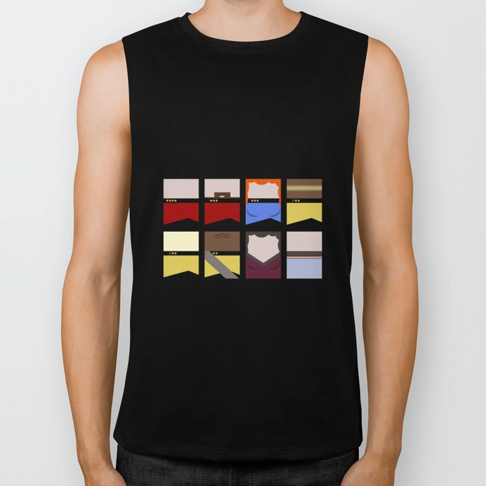 Enterprise 1701 D - Minimalist Star Trek TNG The Next Generation - startrek - Trektangles  Biker Tank