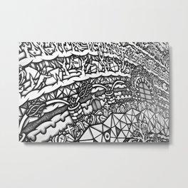 Mandala Dante Inferno Detail 2 Metal Print