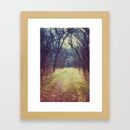 The Woods Are Lovely, Dark and Deep...  Framed Art Print