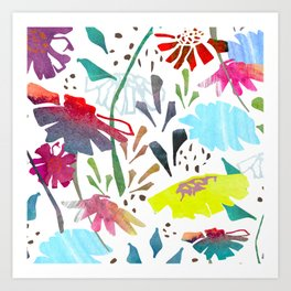 Daisy Days Art Print