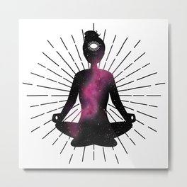 Open Your Third Eye To The Universe | Dark Stars Galaxy Metal Print