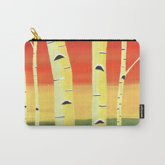 Birch Woods Carry-All Pouch