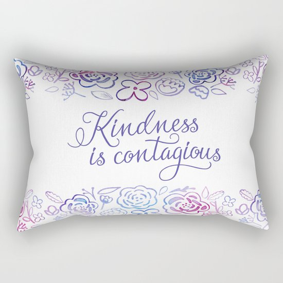 Kindness is Contagious Rectangular Pillow