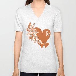 Valentine Hearts Unisex V-Neck