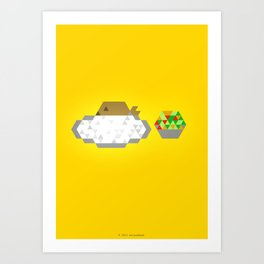 GRILLED FISH + WHITE RICE + SALAD ON THE SIDE Art Print