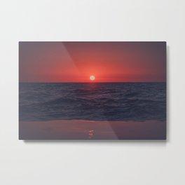 Restless Sunset Metal Print