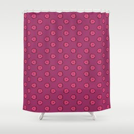 Pink flowers on pink Shower Curtain