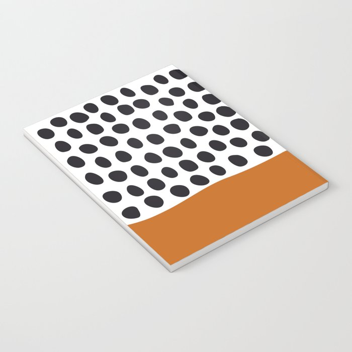 Classy Handpainted Polka Dots with Autumn Maple Notebook