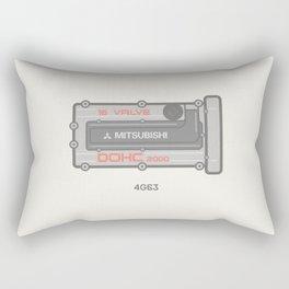 Mitsubishi 4g63 Rocker Cover  Rectangular Pillow