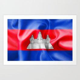 Cambodia Flag Art Print