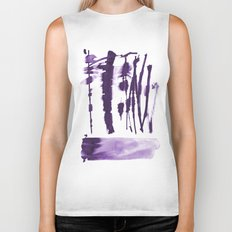 Decorative strokes Biker Tank