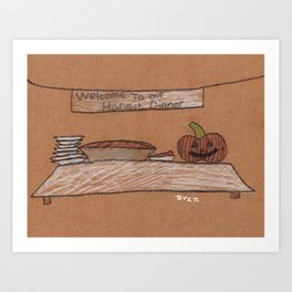 Thanksgiving Dessert Art Print