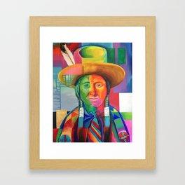 Cowboy Indian Framed Art Print
