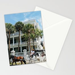 Horse Drawn Carriage in Charleston Stationery Cards