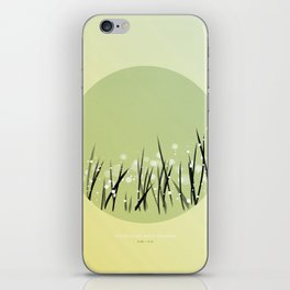 [9.08—9.12] Dew Glistens White On Grass iPhone Skin